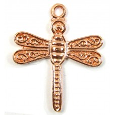 1 Pure Copper Dragonfly Charm Pendant
