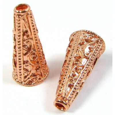1 Pure Copper Bead Cone End