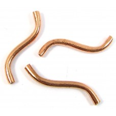 10 Pure Copper Wiggly Tube Beads
