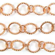 1cm Pure Copper Rope Effect Chain
