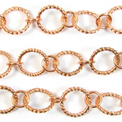 1cm Pure Copper Rope Effect Chain