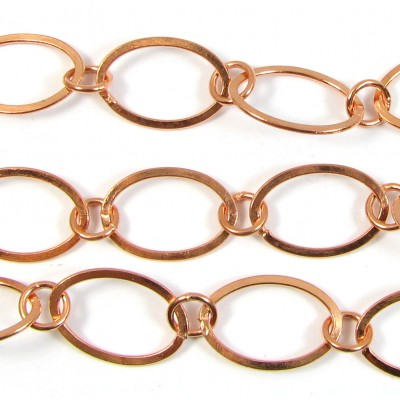 1cm Pure Copper Large Oval Link Chain