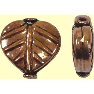 1 Pure Copper Leaf Bead
