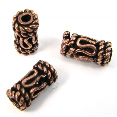 10 Pure Copper Cylinder Beads