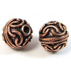 10 Pure Copper 11mm Beads