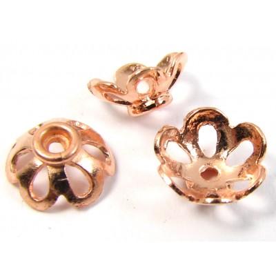 10 Pure Copper 7x4mm Filigree Design Beadcaps