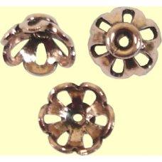 10 Pure Copper 8x4mm Filigree Design Beadcaps