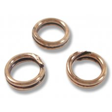 10 Antiqued Pure Copper 6mm Split Rings