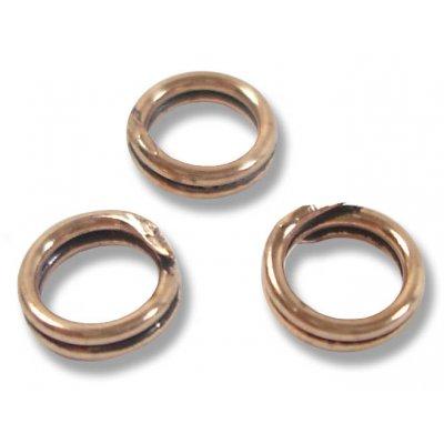 10 Antiqued Pure Copper 6mm Split Rings
