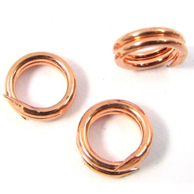 10 Pure Copper 6mm Split Rings