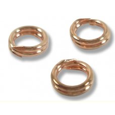 10 Pure Copper 6mm Split Rings