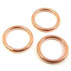 10 Pure Copper 10mm Soldered Rings