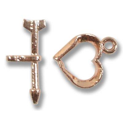 1 Pure Copper Heart Toggle Clasp