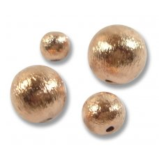 10 Pure Copper Round Beads 8mm Brushed Effect