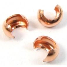 20 Pure Copper 2.5mm Crimp Covers