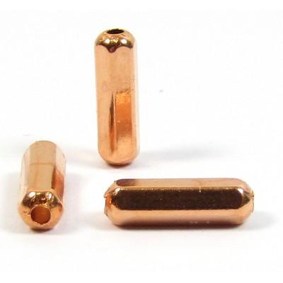 10 Pure Copper 3x10mm Hexagonal Bar Beads
