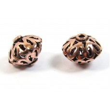 1 Pure Copper Lantern Bead  - Oxidised