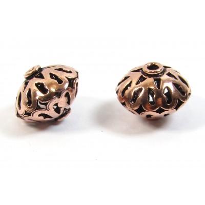 1 Pure Copper Lantern Bead  - Oxidised