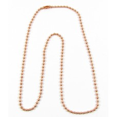 1 Pure Copper Ball Chain Necklace 40cm  - 16inch