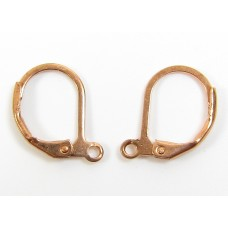 1 Pair Pure Copper Leverback (Continental Fittings) Earring Findings