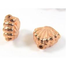 1 Pure Copper Shell Bead