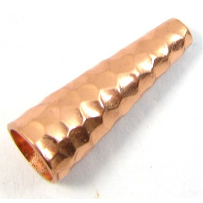 1 Pure Copper Hammered End Cone