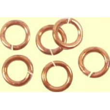 50 Copper Plated 5mm Jump Rings