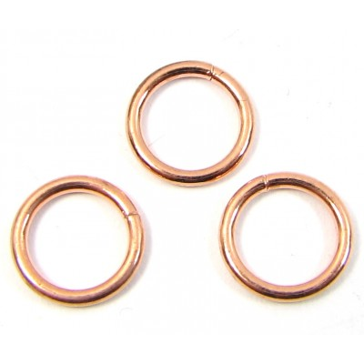 10 Pure Copper 8mm x 1.1mm Jump Rings