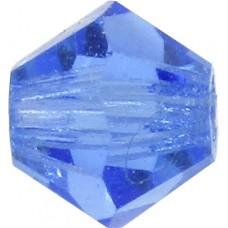 100 Sapphire Preciosa Crystal 4mm Bicone Beads