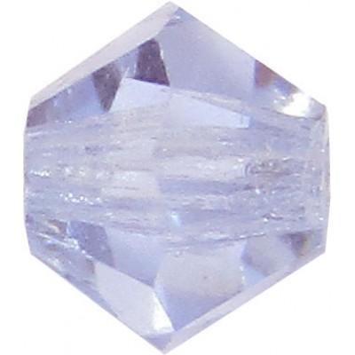 100 Violet Preciosa Crystal 4mm Bicone Beads