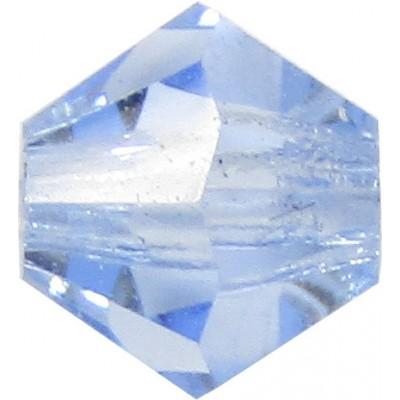 100 Light Sapphire Preciosa Crystal 4mm Bicone Beads