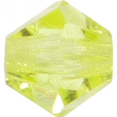 100 Jonquil Preciosa Crystal 4mm Bicone Beads