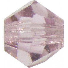 100 Light Amethyst Preciosa Crystal 4mm Bicone Beads