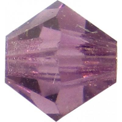 100 Amethyst Preciosa Crystal 4mm Bicone Beads