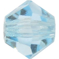 100 Aquamarine Preciosa Crystal 4mm Bicone Beads