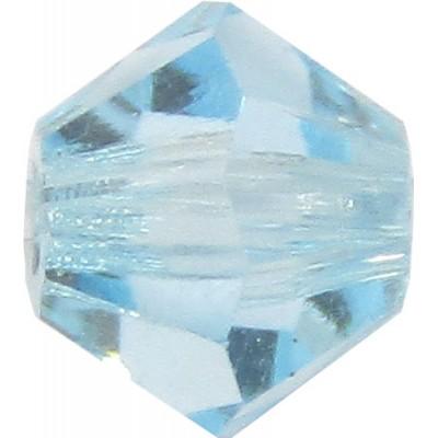 100 Aquamarine Preciosa Crystal 4mm Bicone Beads
