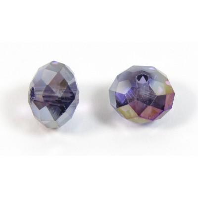 10 Cosmic Purple Crystal AB 8mm Rondelle Beads