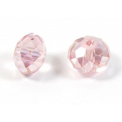 10 Light Rose Crystal AB 8mm Rondelle Beads