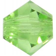 100 Peridot Preciosa Crystal 4mm Bicone Beads