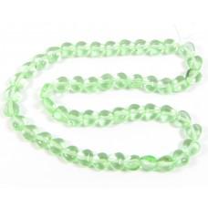 50 Gzech Glass 6mm Heart Beads - Peridot
