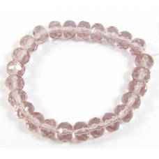 25 Czech Glass Rose Faceted Rondelle Beads