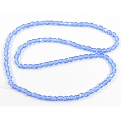 4mm Sapphire Firepolish beads