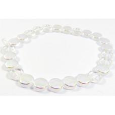 25 Czech Glass Crystal/ AB Disc Beads