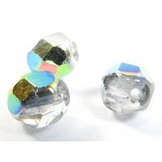 50 Czech Glass Firepolish Crystal 6mm Crystal Vitrail
