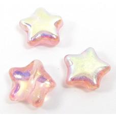 50 Peach AB Star Beads