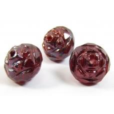 25 Siam Ruby/ Vega Firepolish Faceted Czech Glass Beads