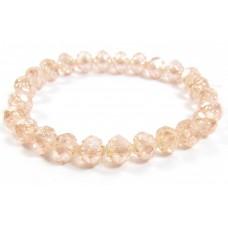 25 Rosaline Lustre Firepolish Faceted Czech Glass Beads