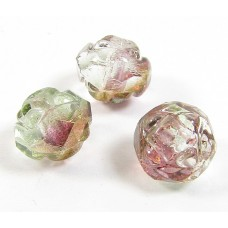 25 Pink-Crystal Lustre Firepolish Faceted Czech Glass Beads