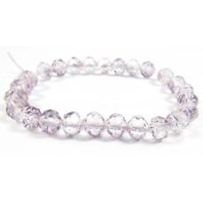 25 Light Amethyst Lustre Firepolish Faceted Czech Glass Beads