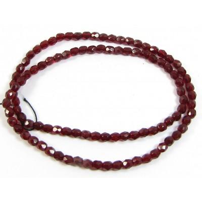 100 Firepolish Beads 4mm Ruby tranparent